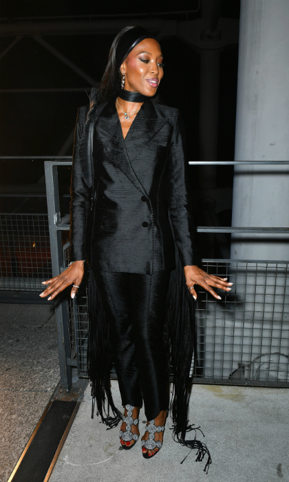 Strike a pose! Naomi Campbell looked chic at the 'Tresors d'Afrique': Unvelling Of Chaumet High Jewelry party, which was part of Haute Couture Paris Fashion Week on July 1. 