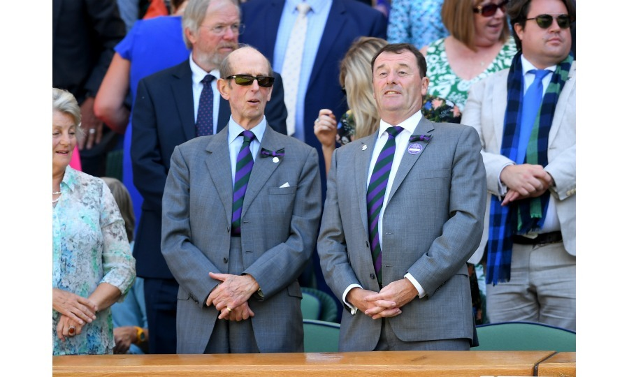 Royal alert! Prince Edward, Duke of Kent, joined Philip Brook, Chairman of the All England Lawn Tennis Club, in the royal box on day one of the Wimbledon Tennis Championships. Queen Elizabeth's cousin marked the first royal to be spotted in the stands.