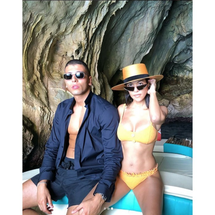 The personality has certainly lived up to her famous last name, sharing various viral photos from her June travel spree, including this one of her and boyfriend Younes Bendjima on a boat in Capri, Italy.