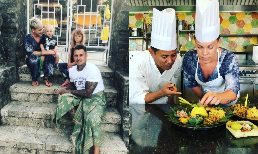 Pink and her family enjoyed a cultural trip to Bali. The singer and her husband Carey Hart took their two kids Willow and Jameson to the Indonesian island for some kin adventures. 