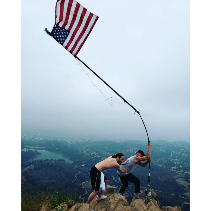 Diplo and Steve Aoki took in a morning hike to kick start their July 4th festivities in L.A.