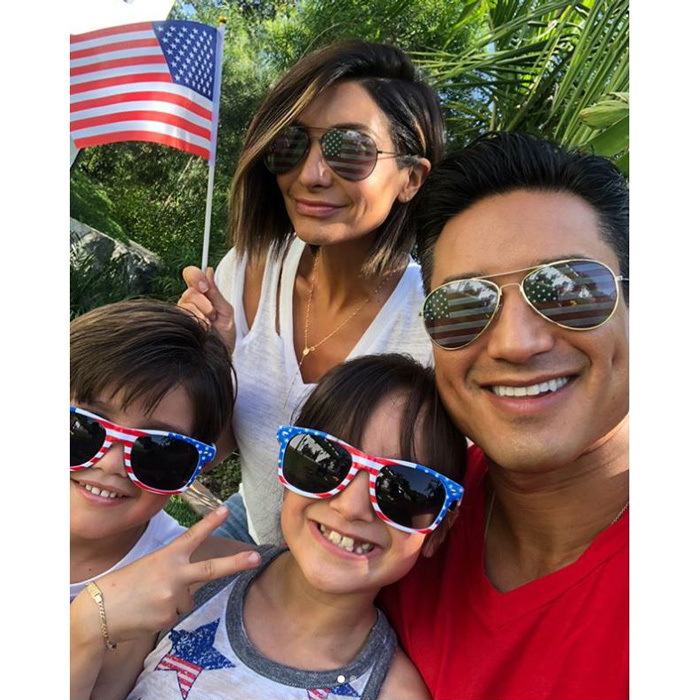 "Mario Lopez had quite the entourage celebrating. The <i>Extra</i> host along with his kids Gia and Dominic shared matching smiles with wife Courtney as he wrote on Instagram: ""Happy 242nd Birthday USA!! #4thOfJuly #America #LopezFamBam""