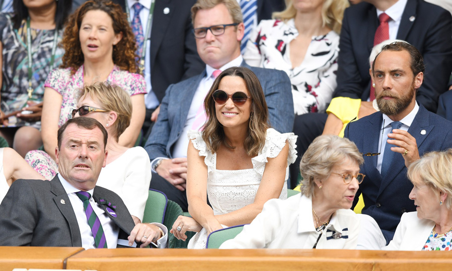 Wimbledon means sightings from Pippa and James. The siblings made their 2018 debut at the tennis tournament looking stylish as ever while chatting with Philip Brook.