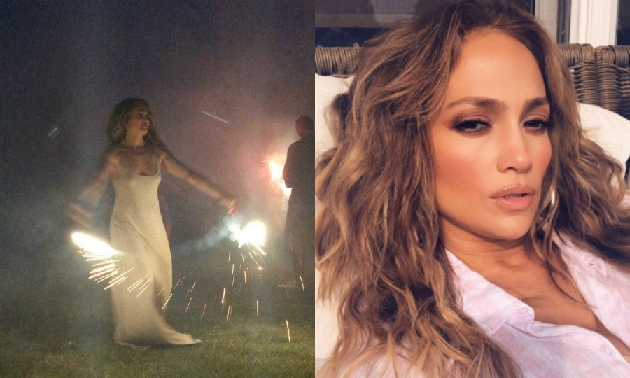 Sparkle and shine! Jennifer Lopez had an epic Fourth of July celebration with her loved ones, complete with sparklers. The <i>Shades of Blue</i> star celebrated in the Hamptons, looking stunning as always.
