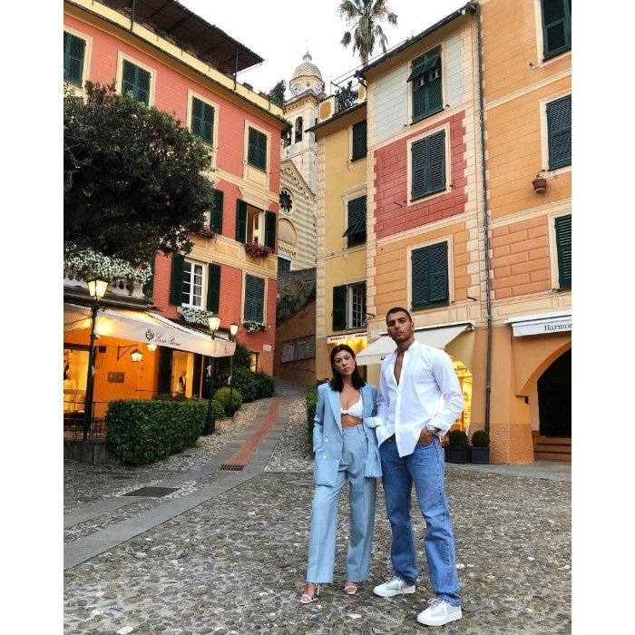 Will Kourtney Kardashian and Younes Bendjima's Italian getaway ever end? The 39-year-old reality star and her model boyfriend shared a romantic stroll after dining at a local restaurant in Portofino, Italy.