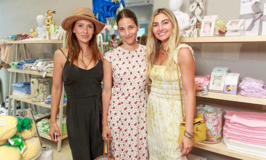 Hilaria Baldwin stepped out in a casual-chic ensemble to celebrate The Tot x Ever After kick-off event in East Hampton on Friday, July 6. 
