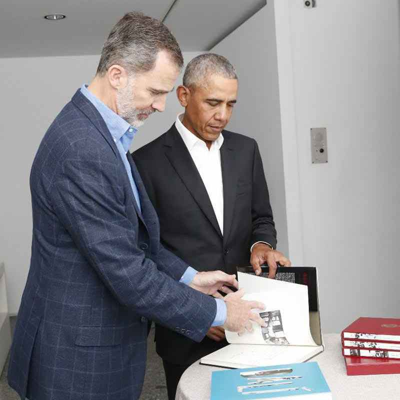 According to the Spain's royal palace, the King kindly gifted Obama with a book about the iconic artwork.