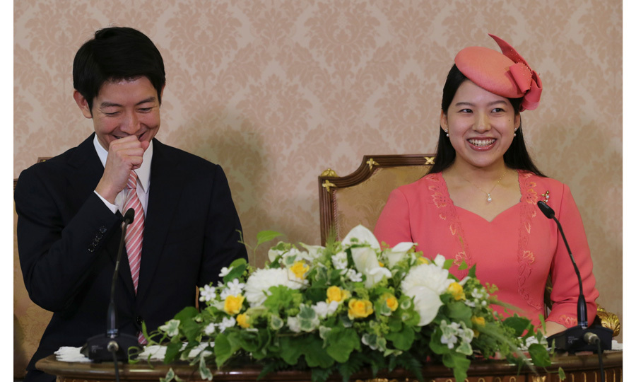 Less than a week after the Imperial Household Agency announced that Japan's Princess Ayako would marry a commoner named Kei Moriya, the couple attended a press conference on Monday, July 2, to officially confirm their engagement. The smitten pair laughed and smiled alongside each other as they spoke to the press about the proposal, which involved a delayed answer.