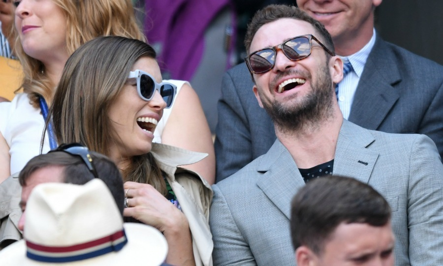 Jessica Biel and Justin Timberlake, who are often seen in the stands of the US Open together, showed their love of tennis as they excitedly cheered on Serena Williams from Centre Court during day eight of the championships at All England Lawn Tennis and Croquet Club. The happy pair also showed their love for each other, stealing sweet glances and affectionate moments throughout the game. For one thing, Jessica lovingly kept her hand on Justin's leg when she wasn't clapping for the American tennis star.