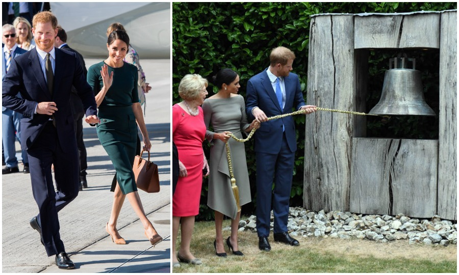 "Meghan's first official tour occurred a pinch sooner after marrying into the royal family. The Duchess joined her Duke on a <a href=""https://us.hellomagazine.com/royalty/12018071027676/prince-harry-meghan-markle-ireland-royal-tour-photos/1"">two-day trip to Ireland</a>, with the intent of immersing themselves in the culture and history of Dublin, specifically: local sports, the arts and entrepreneurship. 