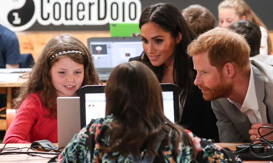 On their final stop of the day, Harry and Meghan checked out Dogpatch startup hub. They were able to check out students, who range from seven to 17, and their projects in the creative setting.
