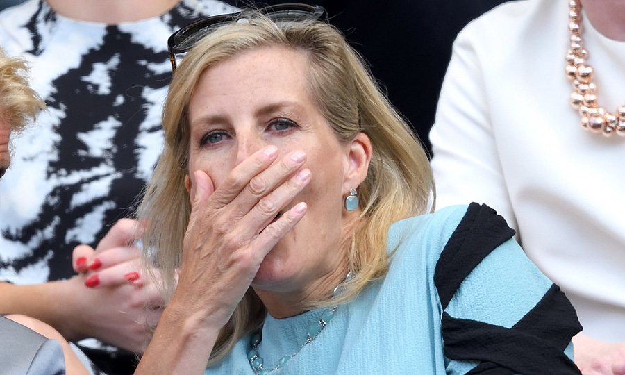 The excitement was almost too much for the Countess of Wessex as she took in the tennis action at Wimbledon on July 11. Sophie was seen gasping in shock at one point in the royal box on day nine of the tournament.