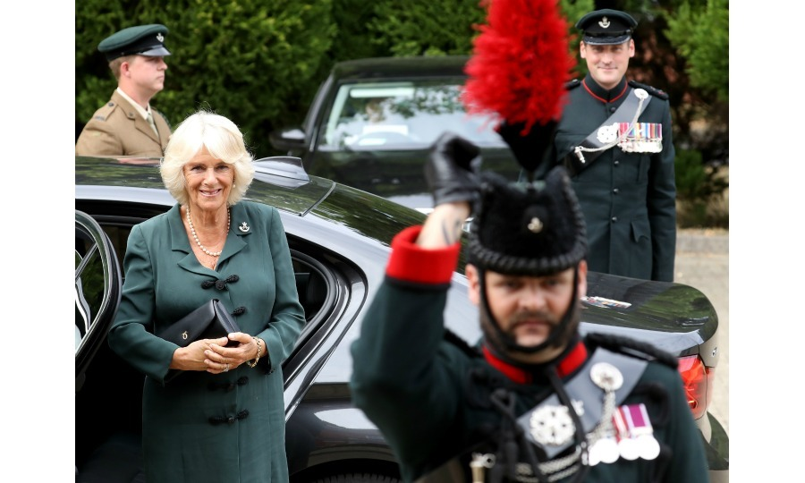 Royal Colonel! Continuing her busy week of royal engagements, Duchess Camilla visited the New Normandy Barracks on July 12 in Aldershot, England. 