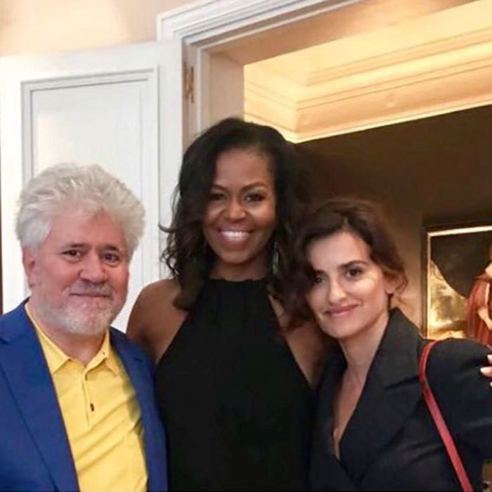 "Starstruck! On July 10, Penélope Cruz shared a picture of her and filmmaker Pedro Almodóvar smiling next to Michelle Obama after meeting the former FLOTUS. ""What a pleasure and honor it has been for Pedro and I to meet the most inspiring couple. @michelleobama @barackobama #pedrolmodovar,"" she wrote in English and Spanish next to the photo.