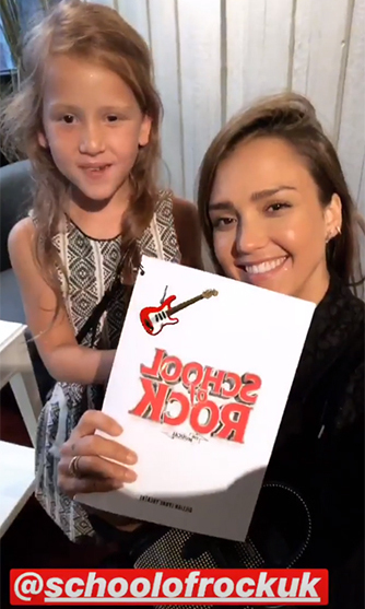 "Jessica Alba and her daughter Haven had a royal outing in London this week. The actress and her six-year-old took a trip across the pond, where they enjoyed one-on-one bonding time. The mom-of-three took to her Instagram on Tuesday, July 10, to give her fans a rundown of their big day out. ""We saw the changing of the guards - immersed ourselves in @stellamccartney old Bond Flagship - had afternoon tea #fortnumandmason(Havie drank Sparkling juice in a champagne glass) - watched @schoolofrockuk then ate a late din @dishoom w @bobbyhundreds@benhundreds - one of the best days eva w my baby Havie Pie,"" Jessica captioned a slideshow of photos and videos.
