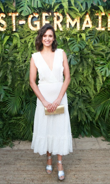 Nina Dobrev was another celebrity to make an appearance, looking lovely in white at the Malibu soirée.