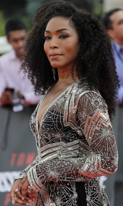 Shining in a beaded number, Angela Bassett looked radiant on the red carpet for the world premiere of her new film <i>Mission: Impossible Fallout</i> on July 12 at the Theatre de Chaillot in Paris. 
