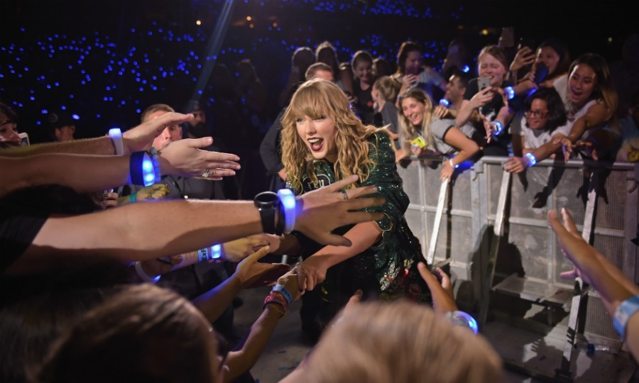 Fan frenzy! Taylor Swift greeted concertgoers during her Reputation Stadium Tour at FedExField on July 11 in Landover, Maryland. 