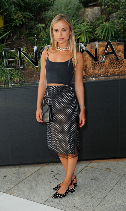 Lady Amelia Windsor was spotted at the Bulgari Man Wood Essence event at Sky Garden in London. The royal paired two different polka-dot looks together for the evening party.