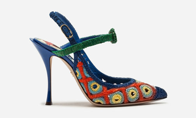 She teamed the outfit with the most artful pair of shoes by the designer that seemed like they belonged in an art gallery!