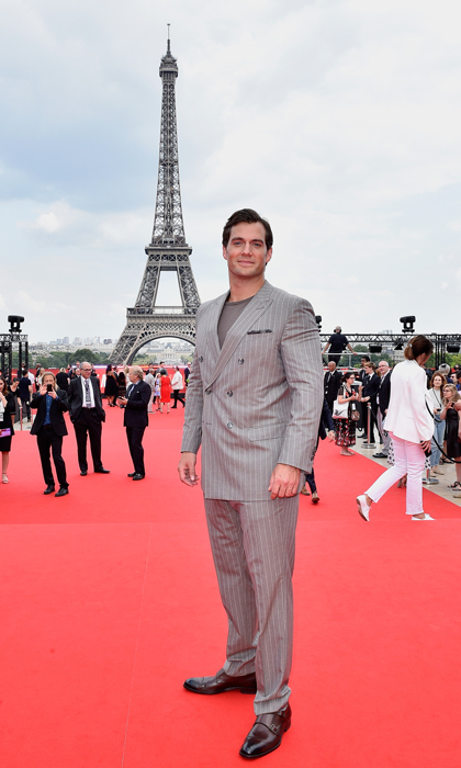 Super man, super tower. Henry Cavill stood tall in front of the Eiffel Tower for the <i>Mission: Impossible Fallout</i> premiere in Paris.