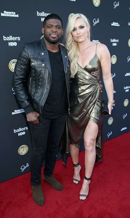 Lindsey Vonn and boyfriend P.K. Subban were a fashionable couple at the SI Fashionable 50 party in L.A. The Olympic skier and professional hockey player showed off their style and PDA on the carpet.