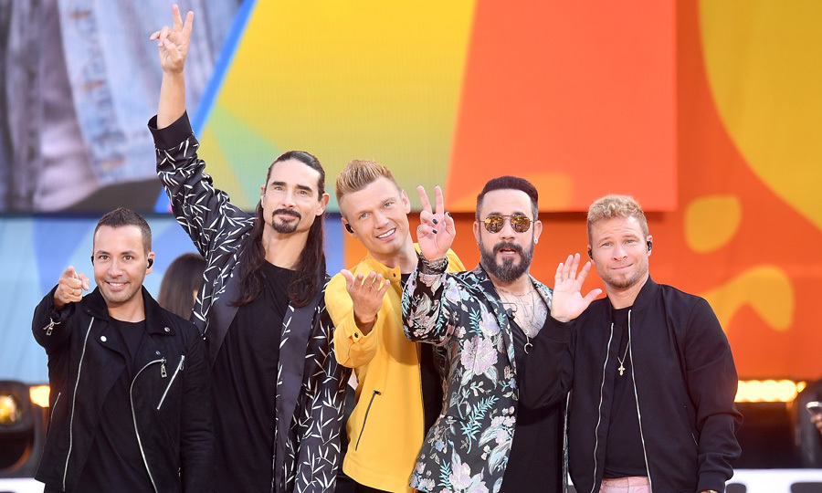 Backstreets Back alright! The group hit the <i>Good Morning America</i> stage bright and early to perform their hits including <i>Larger Than Life</i>, <i>Everybody</i> and their new song <i>Don't Go Breaking My Heart</i>. 