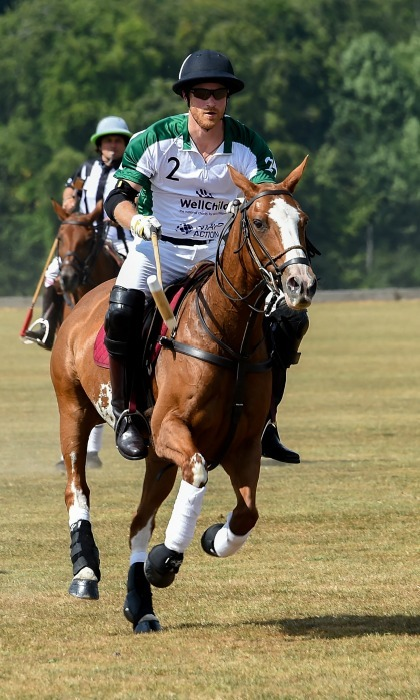 While his wife Meghan Markle was turning heads at Wimbledon with Kate Middleton, Prince Harry was tearing up the polo field. The 33-year-old royal participated in the Xerjoff Royal Charity Polo Cup 2018 in Newbury, England.