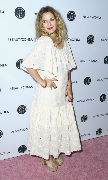 Drew Barrymore looked lovely in lace as she attended the Beautycon Festival L.A. 2018 at the Los Angeles Convention Center on July 14. 