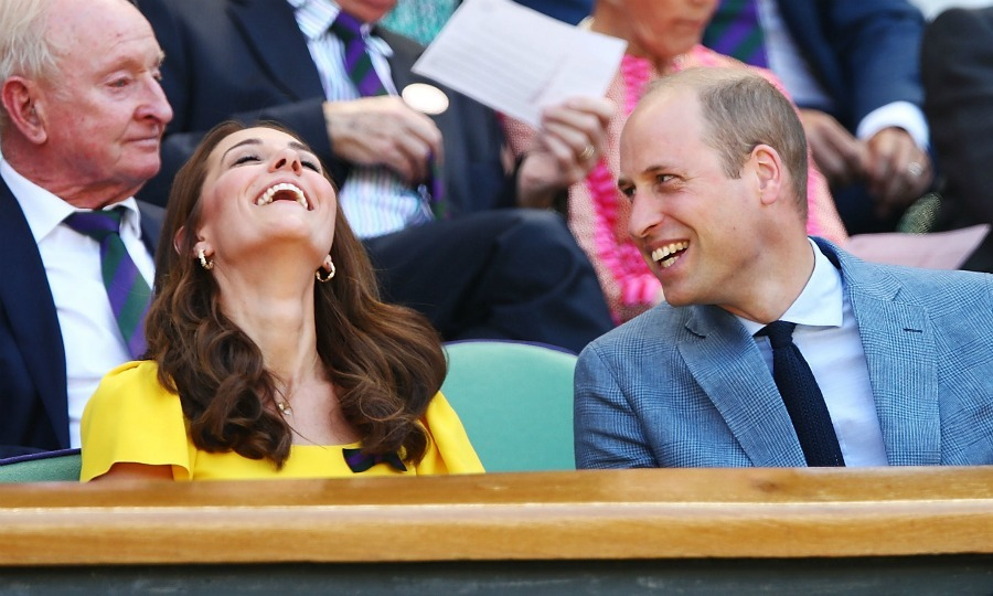 Royal onlookers were grinning at the sight of the parents-of-three looking very much in love while out together. At one point William made his wife crack up.