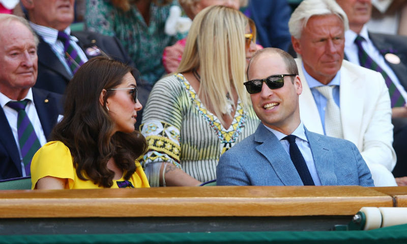 Suns out shades out! Lookin' cool in their sunglasses, the Cambridges chatted in the Royal Box as they watched the gripping tennis final as Novak Djokovic took on Kevin Anderson.