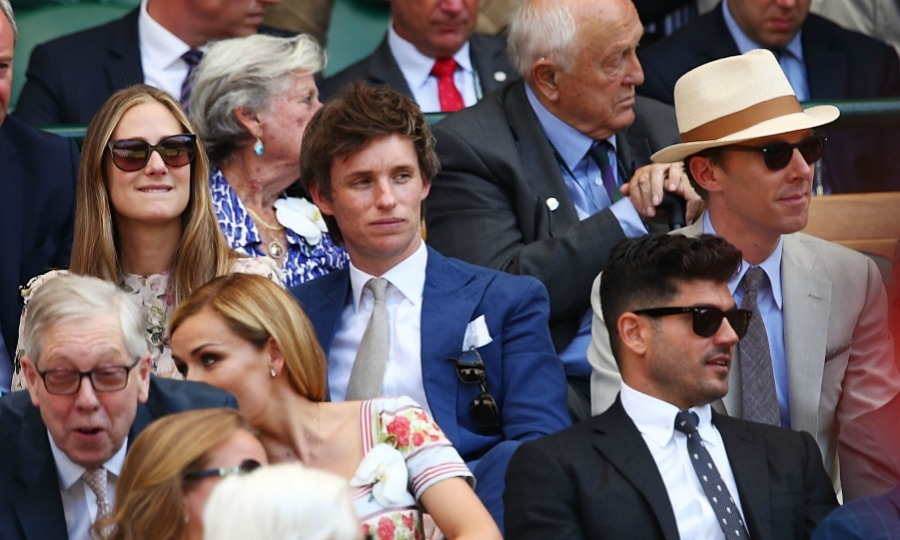 Two other famous Brits in the crowd at the finals were Eddie Redmayne and Benedict Cumberbatch.