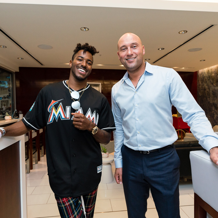 When DJ (Ruckus) meets DJ, as in Derek Jeter! The well-known deejay was on hand to throw out the first pitch at the Miami Marlins vs. Phillies game. 
