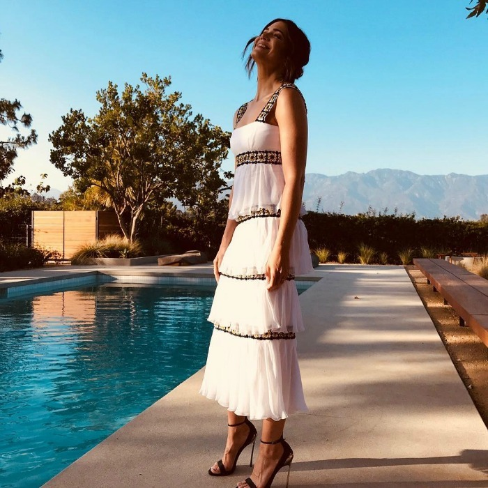 "Mandy Moore looked gorgeous in a layered frock as she posed poolside ahead of the premiere of her film <i>Darkest Minds</i>. Along with the photo on Instagram, she wrote: ""Going into the weekend like.....""