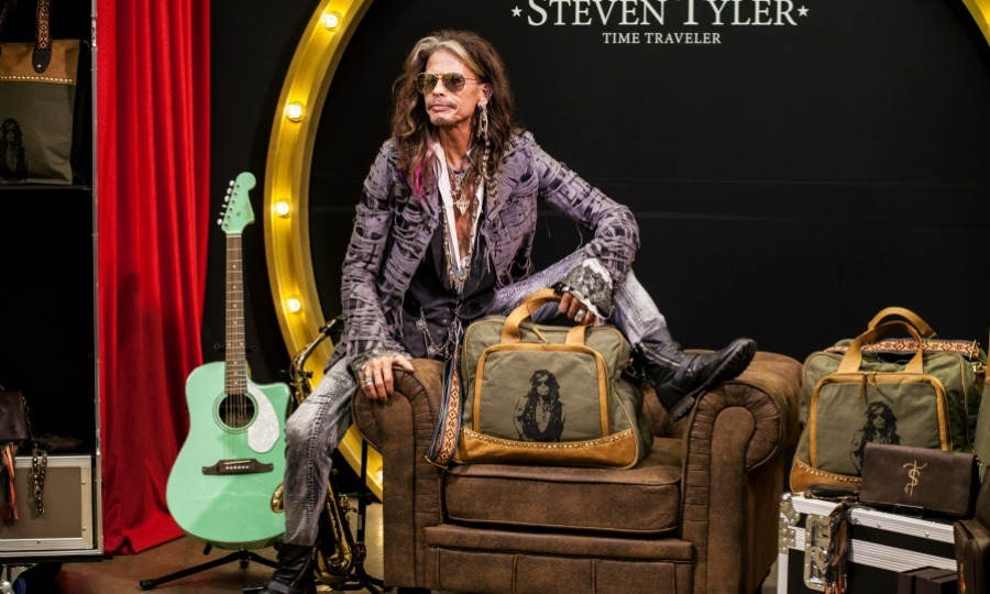 Strike a pose! Steven Tyler got comfy with his new collection for Starlite Shop on August 1 in Marbella, Malaga, Spain.