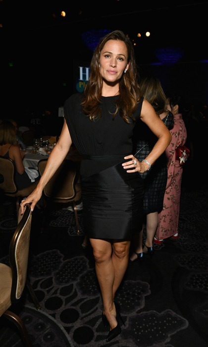 Jennifer Garner was on hand for the HFPA's grand banquet  that raised $3.25 million in grants for a variety of charitable organizations, which were accepted by their celebrity ambassadors. 