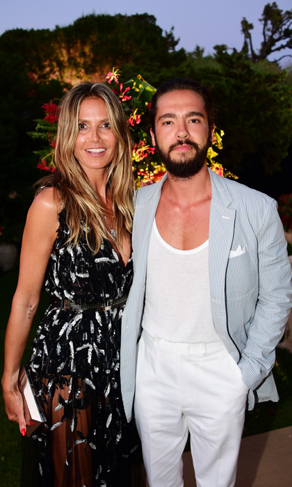 Heidi Klum put on a dazzling Azzaro Couture gown and stepped out with her musician man Tom Kaulitz for the Unicef Summer Gala at the sprawling Villa Violina in Porto Cervo, Italy.