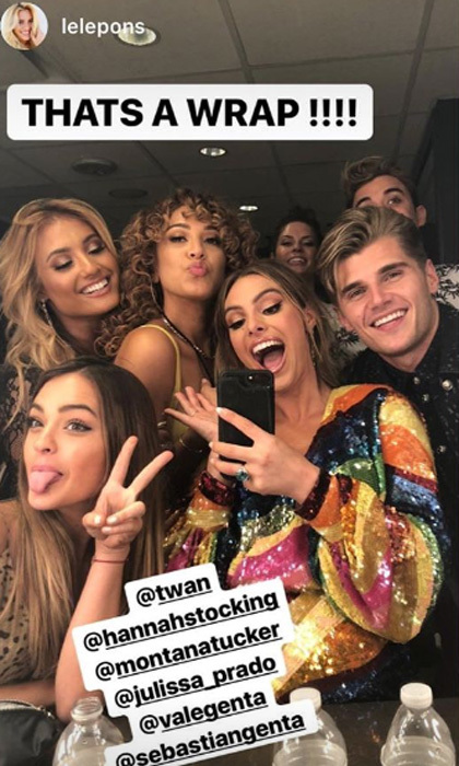 Lele Pons had her friends including Montana Tucker and Julissa Prado with her as she hosted the Teen Choice Awards.