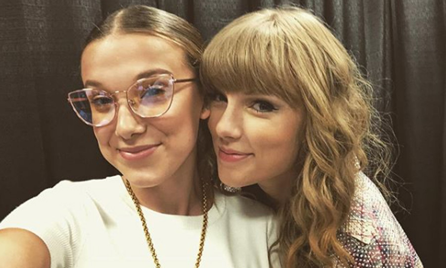 "Millie Bobby Brown was among the 116,000 fans that watched Taylor Swift perform in Atlanta over the weekend. The <i>Stranger Things</i> actress shared the backstage selfie along with the caption: ""Look what you made me do.""