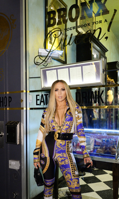 Before heading into Beauty & Essex via the pawn shop in front, the Bronx beauty checked out her memorabilia that was displayed throughout. She spent 15 minutes reminiscing with Alex as he documented it all on social media.