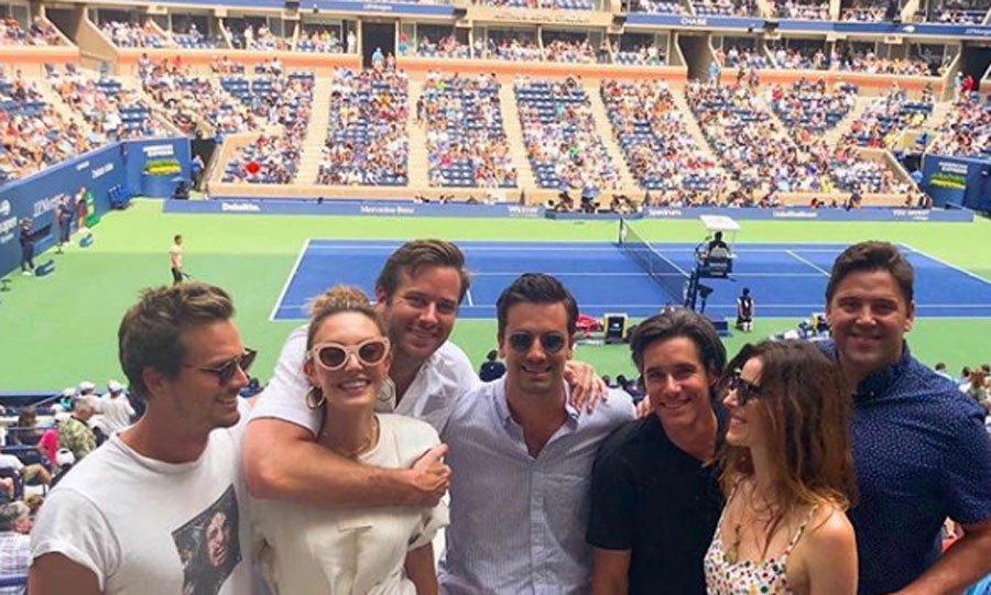 Armie and Elizabeth Hammer kept his birthday festivities going during the US Open. The couple and their friends watched from the Emirates Suite at Arthur Ashe Stadium in Flushing, New York.