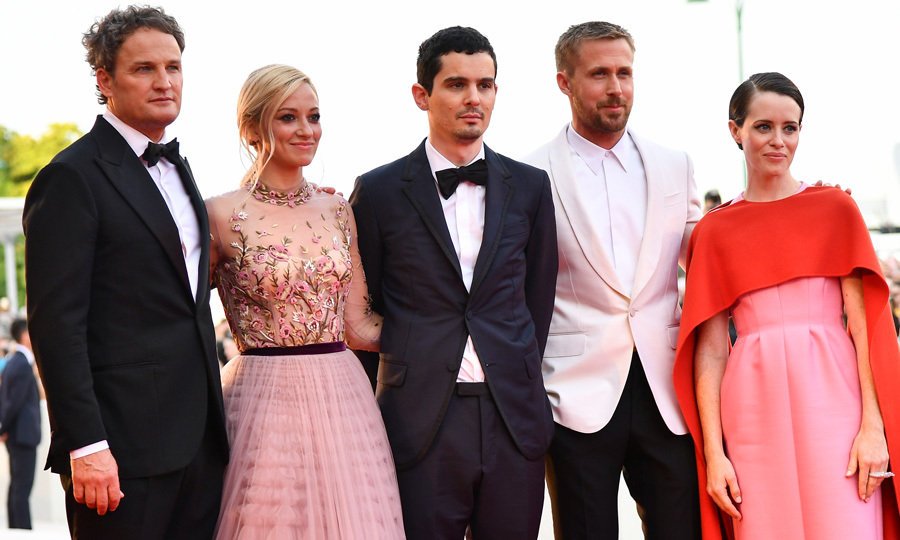 The Venice Film Festival kicked off with <i>First Man</i> that stars Jason Clarke, Olivia Hamilton, Ryan Gosling and Claire Foy. Ryan reunited with <i>La La Land</i> director  Damien Chazelle for the new film.