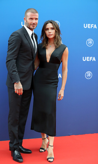 David Beckham had his leading lady Victoria next to him at the UEFA Champions League Group Stage Draw and Awards in Monaco.