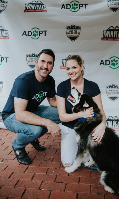 Kate Upton and Justin Verlander partnered with Wins for Warriors Foundation and Astro's Dog Day to throw one epic Grand Slam Adoption event in Houston. The couple, who are expecting their first baby, are already parents to adopted dogs. Though the supermodel was unable to enjoy, the event was sponsored by Tito's Handmade Vodka.