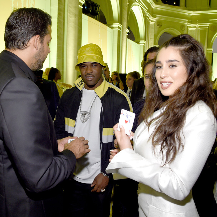 David Blaine did one of his magic tricks on A$AP Ferg and Lauren Jauregui during American Express and its Platinum Card Creative Director, Pharrell Williams' Yellow Ball at the Brooklyn Museum.