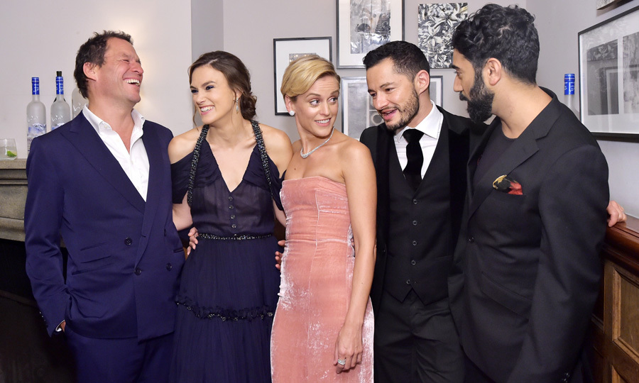 Dominic West, Keira Knightley, Denise Gough, Jake Graf and Ray Panthaki had a good laugh at the <i>Colette</i> premiere party hosted by Grey Goose vodka at Toronto's Soho House 