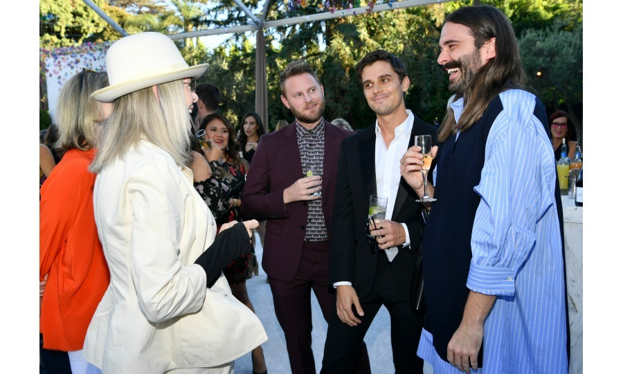 Continuing their streak of meeting pop culture giants, Bobby, Antoni and Jonathan looked in awe as they chatted with the one and only Diane Keaton, who donned her signature long-sleeved and hat clad style. Drinks in hand, the trio spoke with the Annie Hall icon, later joined by <i>Unbreakable Kimmy Schmidt</i> star Carol Kane.