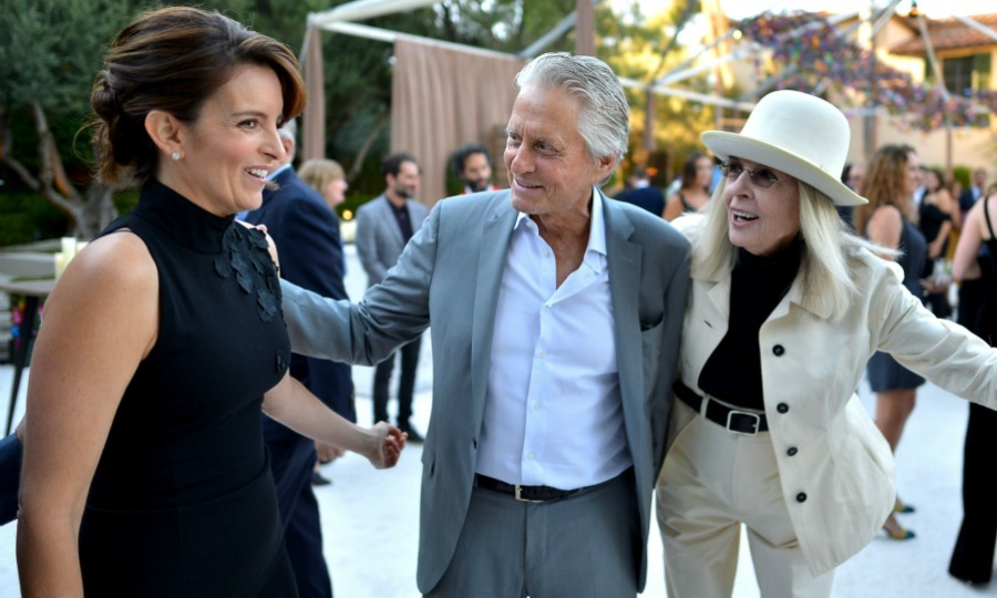 Tina Fey had a starstruck moment of her own at the Netflix gathering as she got pulled into quite a legendary photo opp. The <i>Saturday Night Live</i> alum was in disbelief as she joined Hollywood idols Michael Douglas and Diane Keaton, who played in the rom-com <i>And So It Goes</i> together, for an epic candid picture.