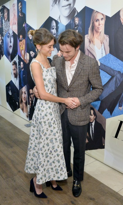The <i>Stranger</i> shuffle! Natalia Dyer and Charlie Heaton put on a loved-up display at the second annual edition of the Emmys party, dancing together under the flash of cameras. The <i>Stranger Things</i> co-stars, and real-life couple, stepped out in style to celebrate the nomination earned by their hit Netflix show: Outstanding Drama Series.