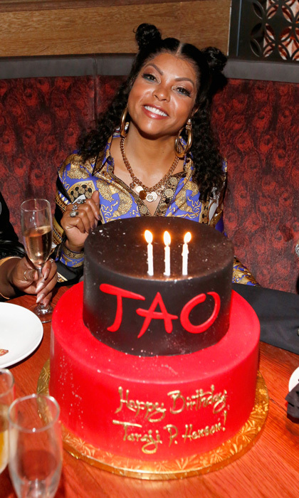 Taraji P. Henson celebrated her birthday with a customized cake instead of cookies at the Tao Chicago opening. The <i>Empire</i> star was joined by friends and took over a banquette where she danced the night away. 